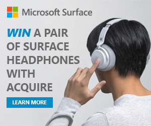 Win a pair of Surface Headphones with Acquire