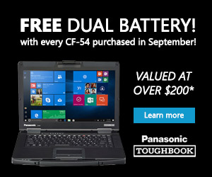 Panasonic Toughbook - FREE Dual Battery Offer*