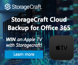 You could WIN an Apple TV with Storagecraft!