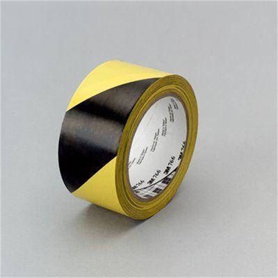 3M Scotch Tape Vinyl 766 50mm X 33M Yellow/Black (70006279361)