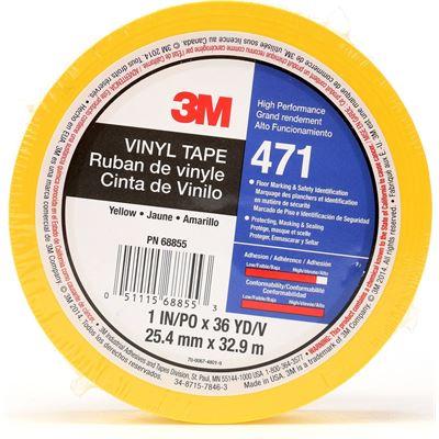 3M Vinyl Tape - 471 25mm x 33m - Yellow (70006748019)