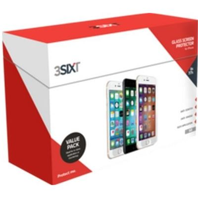 3SIXT Screen Protector iPh 8+/7+/6S+/6+ Glass - Bulk Pk - 50