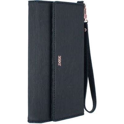 """3SIXT Universal Leather Clutch - Black Classic (Up to 6.0"""")"""