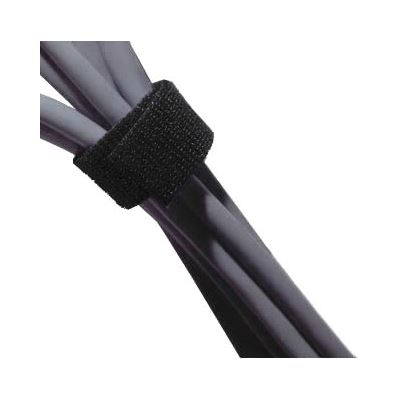 8 Ware 8Ware Hook & Loop (Velcro) Cable Tie 200mm X 12mm in Black - Bag of 100