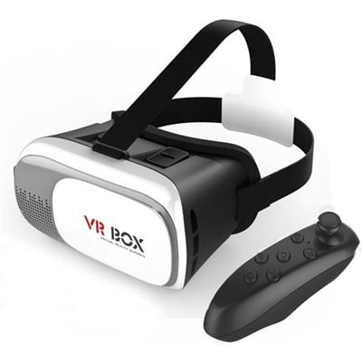 8 Ware VRBox Kit version 2.0 - Including VR Headset with Remote Bluetooth Controller