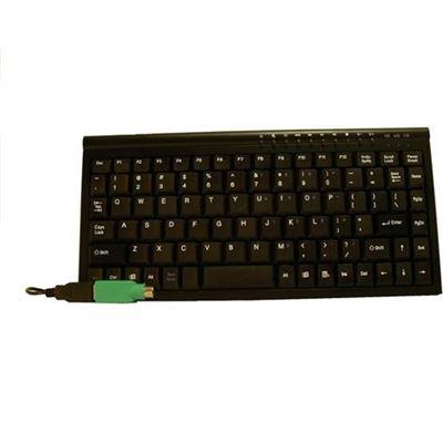 8 Ware 8Ware Mini Keyboard USB & PS2 Black 89 Keys Multimedia keyboard with 10 hot keys