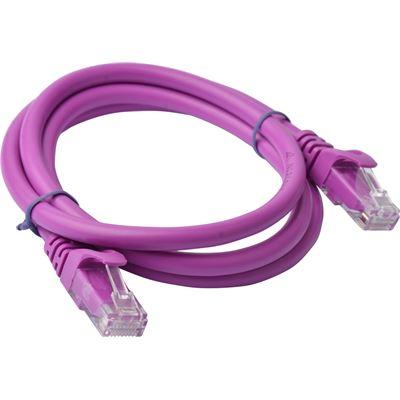 8 Ware Cat 6a UTP Ethernet Cable; Snaglessÿ - 1m (100cm) Purple