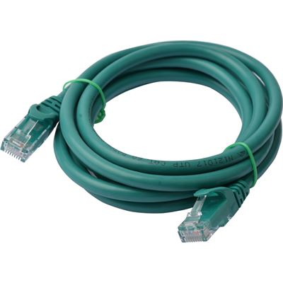 8 Ware Cat 6a UTP Ethernet Cable; Snaglessÿ - 2m Green
