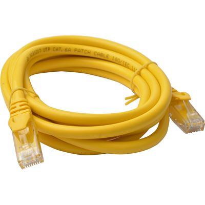 8 Ware Cat 6a UTP Ethernet Cable; Snaglessÿ - 2m Yellow