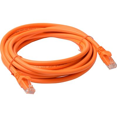 8 Ware Cat 6a UTP Ethernet Cable; Snaglessÿ - 5m Orange