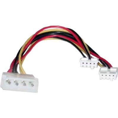 8 Ware Molex Power Splitter Cable 2x3.5'F - 1x5.25'M 30cm