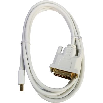 8 Ware 8ware Mini Display Port to DVI Cable, 2m WHITE