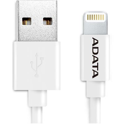 A-Data ADATA Apple Certified Lightning to USB Cable, White , 100cm , Appler Certified