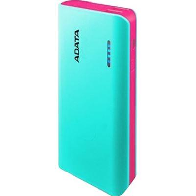 A-Data ADATA PT100 10,000mAh Powerbank with Flashlight - Aqua/Pink