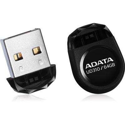 A-Data ADATA UD310 Dashdrive Durable USB 2.0 64GB Black Tiny Flash Drive