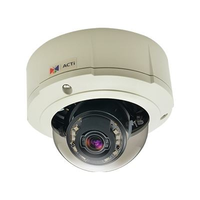 ACTi 3MP Indoor/Outdoor, Day/Night Dome Camera with Adaptive IR, Superior WDR, 3x
