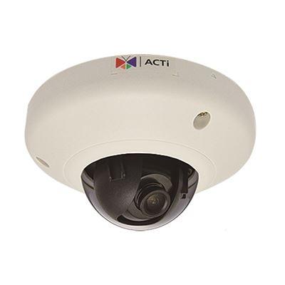 ACTi 2MP Indoor Mini Dome Camera, WDR, SLLS, DNR, MicroSDHC/MicroSDXC, PoE, IK08
