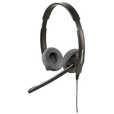 Addcom ENTRY LEVEL BINAURAL HEADSET. COMFORTABLE GETS THE JOB DONE AND DOESN T BREAK