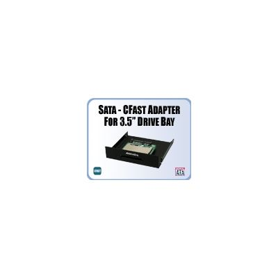 "Addonics SATA - CFast Adapter on black color 3.5"" drive bay mounting bracket"