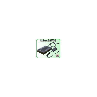 Addonics ExDrive SATA35, ABS black, with 3 feet external SATA - SATA cable