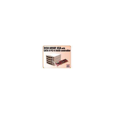 Addonics Disk Array 4SA (black bezel) + eSATA II RAID5/JBOD PCI-X Rcontroller