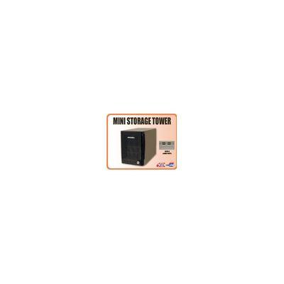 Addonics Mini Storage Tower with 4 eSATA interface, black