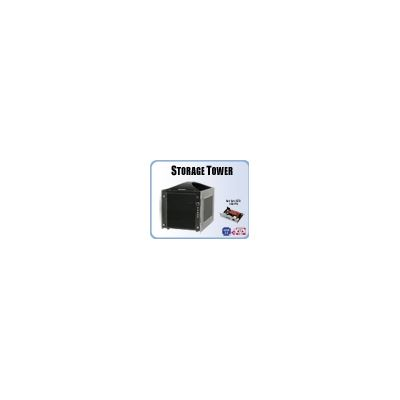 Addonics Storage Tower (black) with 4-port RAID5 HPM