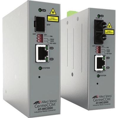 Allied Telesis TAA 10/100/1000T to 100X/1000X SFP Ind Temp GB Media Converter