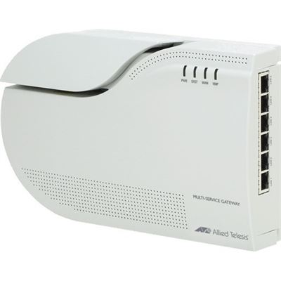 Allied Telesis FTTH multiservice gateway with POTS, 1 x 100/1000BX, 5 x 10/100/1000T, 2 x FXS