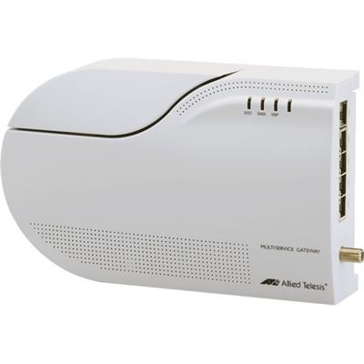 Allied Telesis FTTH multiservice gateway with POTS, 1 x 100/1000BX, 5 x 10/100/1000T, 2 x FXS