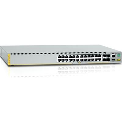 Allied Telesis 24-port 10/100/1000T stackable switch with 4 SFP+ ports and