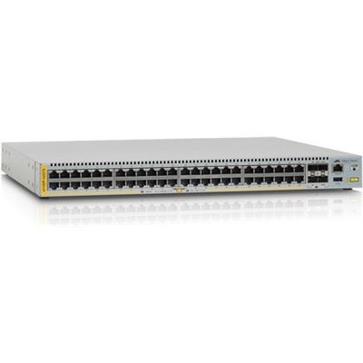Allied Telesis 48-port 10/100/1000T stackable switch with 4 SFP+ ports and