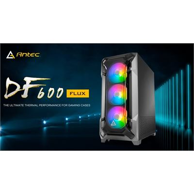 Antec DF600 FLUX High Airflow, ATX, Tempered Glass with 3x ARGB Fants in Front, 1x