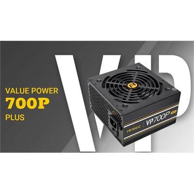 Antec VP700 PLUS 700w PSU. 120mm Silent Fan, PLUS 2019 version. MEPS Compliant. 2