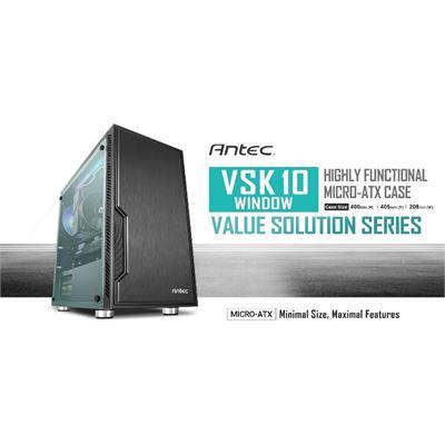 Antec VSK10 Window mATX Case. 2x USB 3.0 Thermally Advanced Builder's Case. 1x 120mm