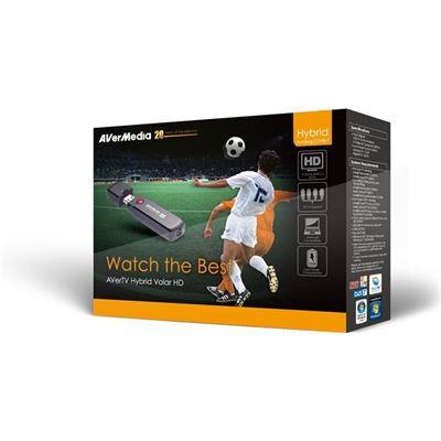 AVerMedia AVerTV Hybrid Volar HD DVB-T/Analog/FM USB Tuner with sVideo capture (H830) EAN