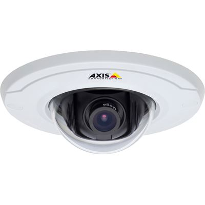 Axis Communications Ultra-discreet fixed dome camera for recessed mounting in drop ceilings. Fixed