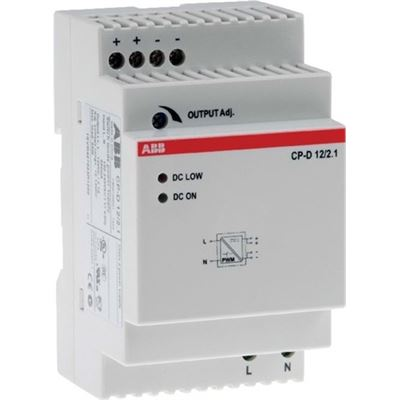 Axis Communications DIN power supply. 12V DC, 2.1 A. For use in T98A to power cameras, media