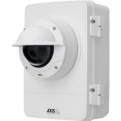 Axis Communications IP66 IK10 and NEMA 4X rated outdoor-ready surveillance cabinet. Protects
