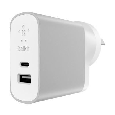 Belkin USB-C + USB-A Home Charger - 27 W Output Power - 5 V DC Output Voltage
