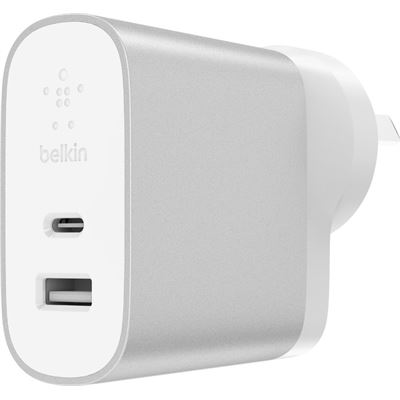 Belkin BOOST CHARGE 27 W USB-C (1) AND 12W USB-A (1) HOME CHARGER, 2 WTY