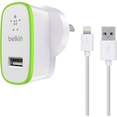 Belkin Boost Up 12W Wall Charger with Lightning Charge/Sync Cable
