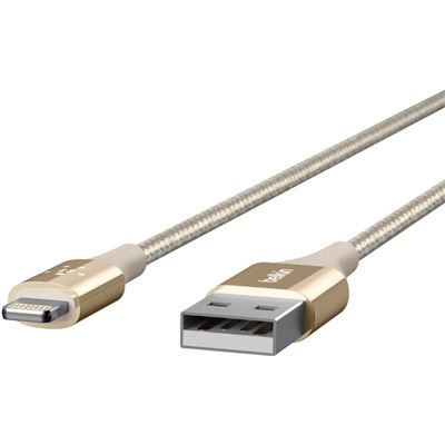 Belkin DURATEK LIGHTNING TO USB CABLE, GOLD, 5YR WTY