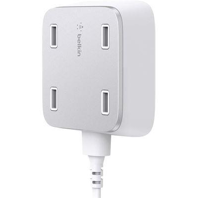 Belkin Family RockStar 4-Port USB Charger - 5 V DC Output Voltage - 5.40 A Output