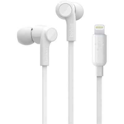 Belkin IN-EAR HEADPHONES WITH LIGHTNING CONNECTOR WHITE