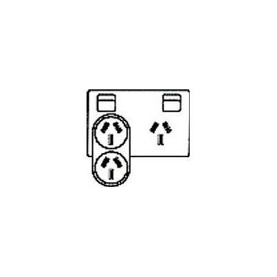 Connexia Double Adapter Horizontal Down