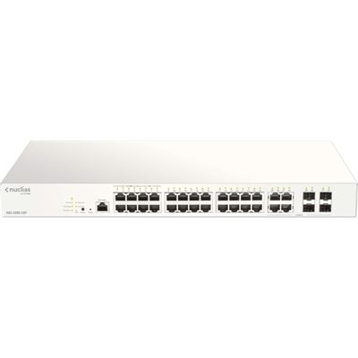 D-Link (DBS-2000-28P) 28-Port Gigabit Nucluas Cloud Managed PoE switch with 28 RJ45