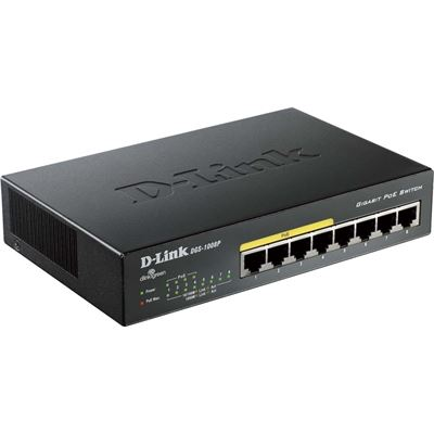 D-Link 8-Port 10/100/1000Mbps Unmanaged Switch with PoE