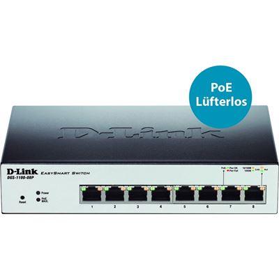 D-Link DGS-1100-08P 8 Port Gigabit EasySmart Switch with PoE
