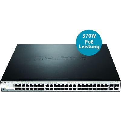 D-Link 52-Port Gigabit WebSmart PoE Switch with 48 PoE UTP and 4 SFP Ports